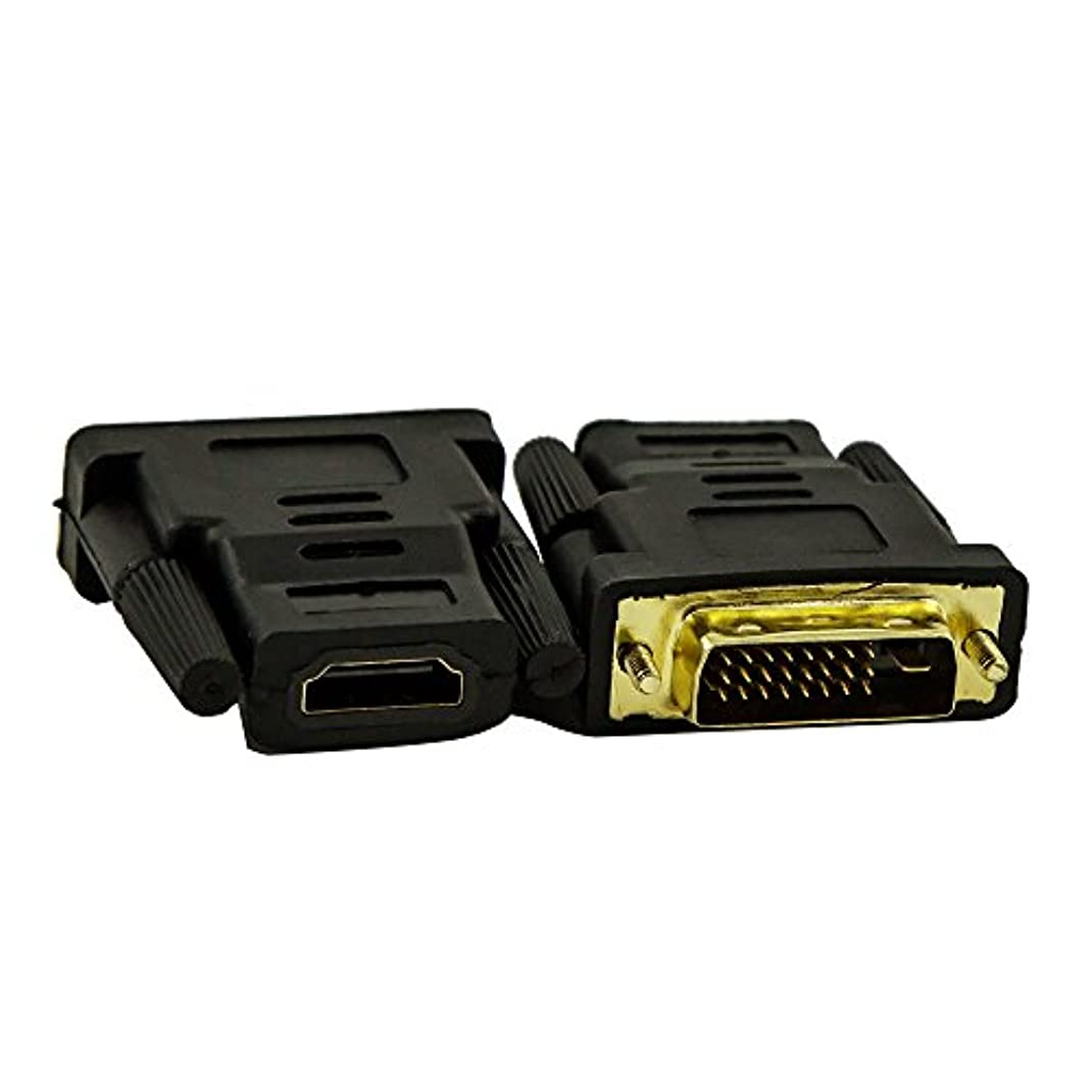計器防腐剤滞在(2pcs HDMI To DVI Adapter) - Fullink 2 Pack Gold-Plated DVI-D Dual Link Male to HDMI to Female Adapter - 4K Resolution Ready