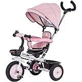 子供用三輪車、散歩用三輪車、手押し用三輪車を回すことができます ( Color : 4 )
