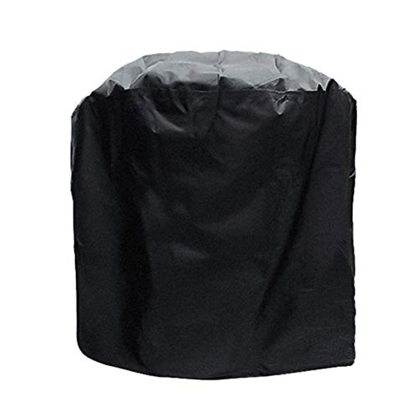 メタリックイデオロギーやるJJJJD ガーデン家具カバーオーブンセットブラック防水屋外グリルカバー防塵日焼け止め防水性防水シートオックスフォード布UV保護 (Size : Cylindrical -58x77cm)