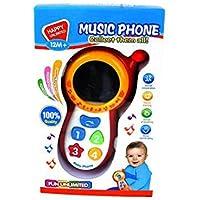 RaiFu 赤ちゃん 音楽 音の電話 おもちゃ ミラー 子供の教育遊ぶ おもちゃ レッド