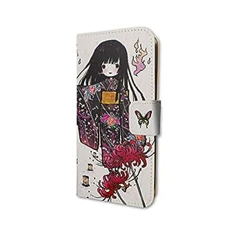 地獄少女 宵伽 01 グラフアートデザイン 手帳型スマホケース iPhone6/6s/7/8兼用