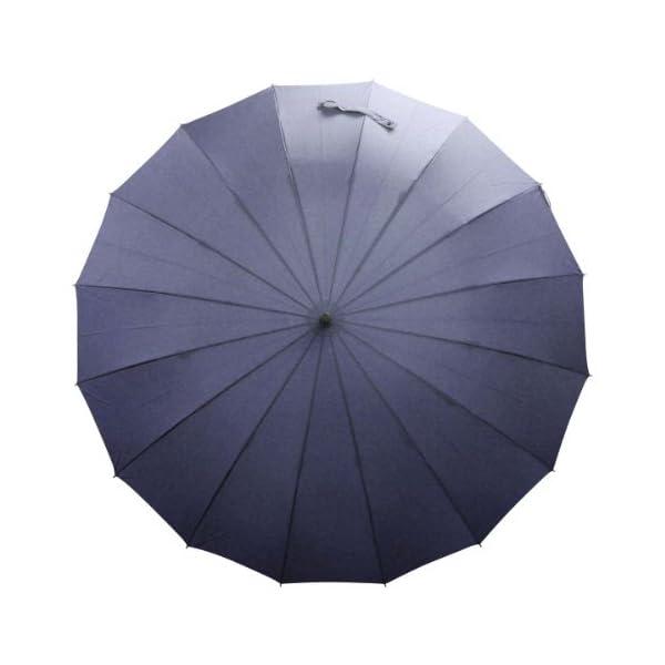 紳士傘 16本骨グラスファイバー ネイビーの紹介画像4