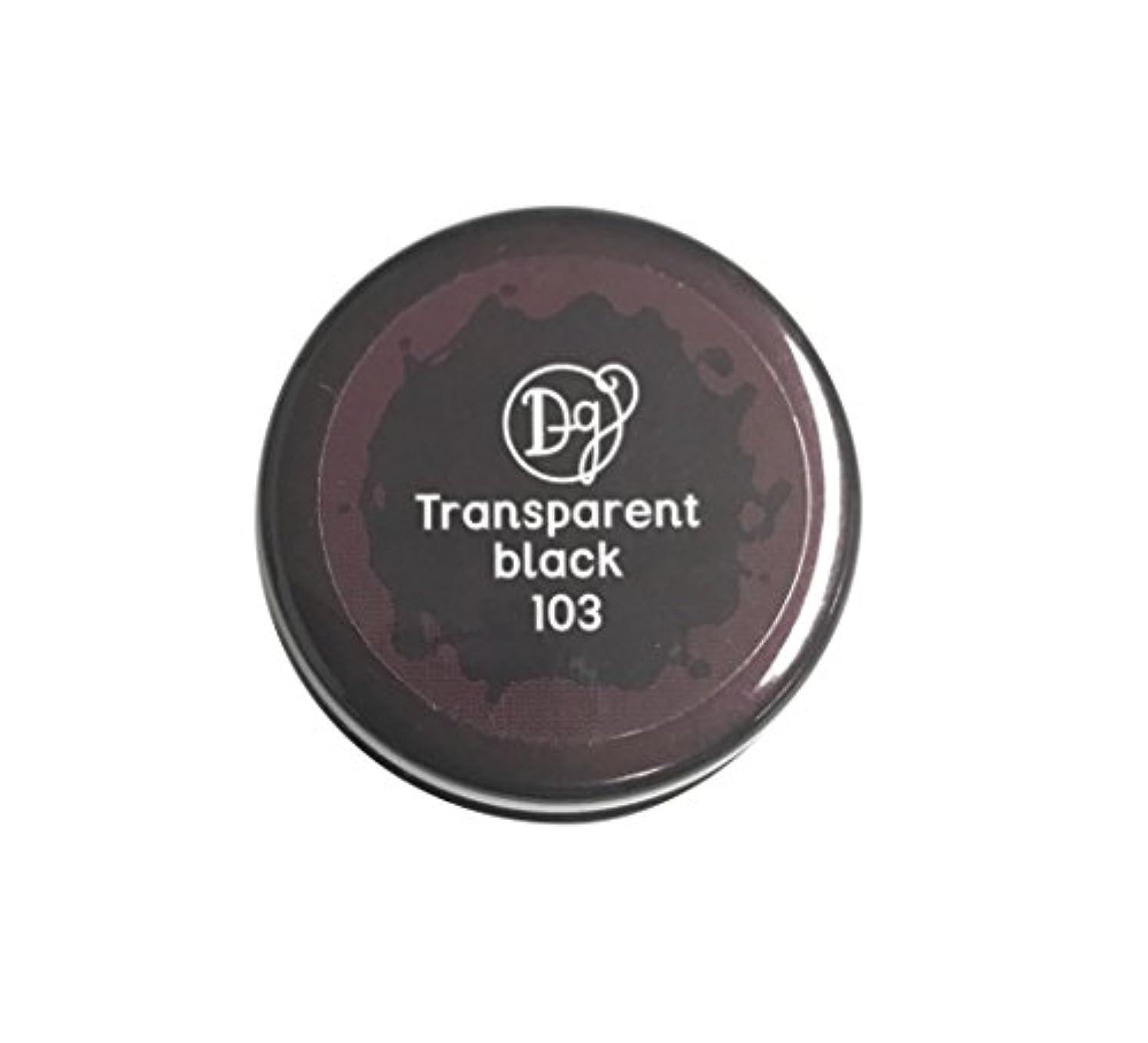 翻訳ツーリスト裁判所DECORA GIRL カラージェル #103 トランスペアレントブラック