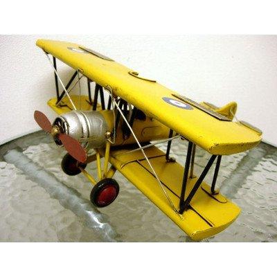 ブリキのおもちゃ 複葉機A・イエロー