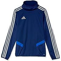 Adidas Australia Kids Tiro 19 Warm Top (Long Sleeve), Black/White