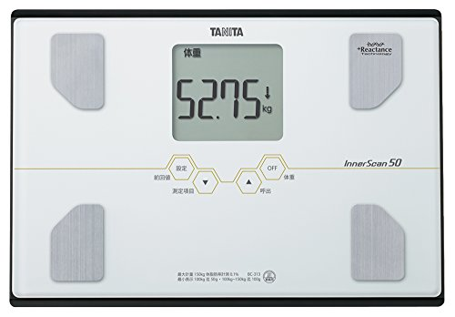 タニタ 体重・体組成計 インナースキャン50 パールホワイト BC-313-...
