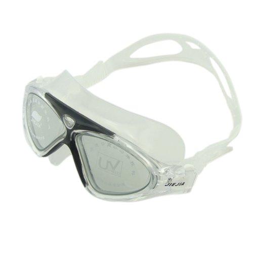 [해외]수중 안경 고글 수영 고글 수영 용 김서림 방지 케이스 크기 렌즈 클리어 + 블랙/Underwater Glasses Goggles Swimming Goggles Anti-fog case for swimming Large lens clear + black