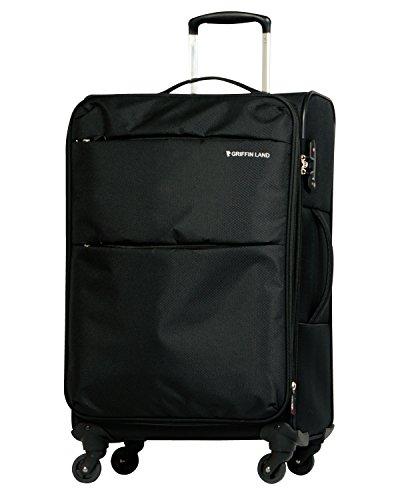 L型 ブラック / AIR6327(solite)スーツケース キャリーケース ソフト TSAロック搭載 大型