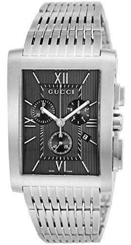 [グッチ]GUCCI 腕時計 Gメトロ ブラック文字盤 クロノ...