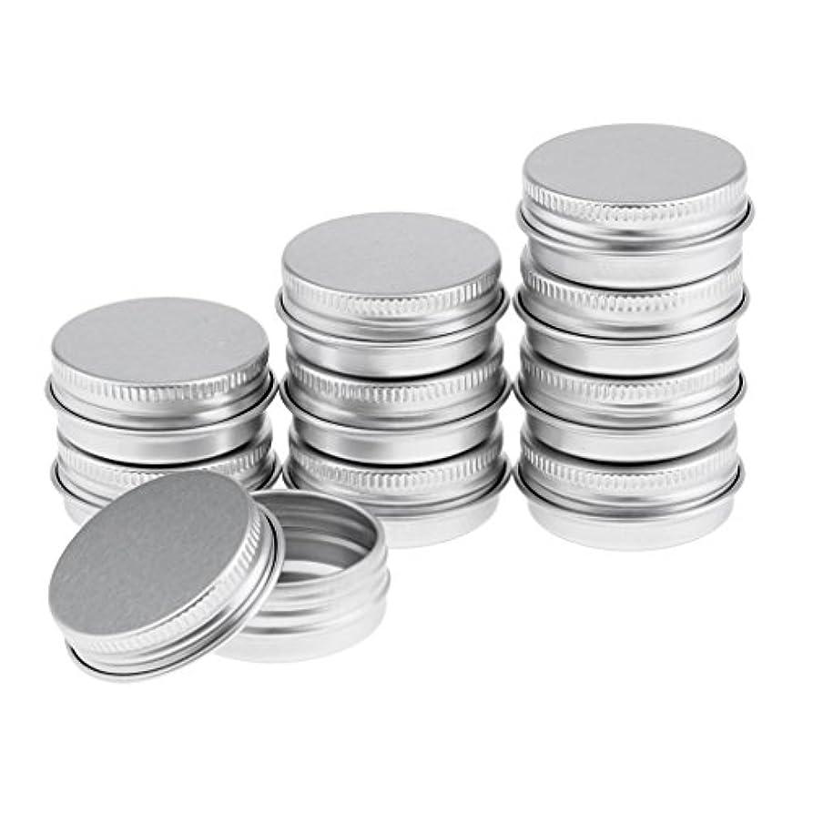 和解するすべき可愛いKesoto アルミ缶 空缶 ポット 化粧品 詰替え DIY アイシャドウ リップクリーム リーム缶 ?丸い 収納ボトル 5タイプ選べる - 10個15ml
