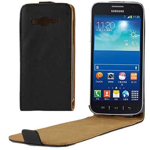 KMLPJP Samsung GALAXY S4 Active mini / i8580用垂直フリップレザー磁気バックルケース 用ケース カバー
