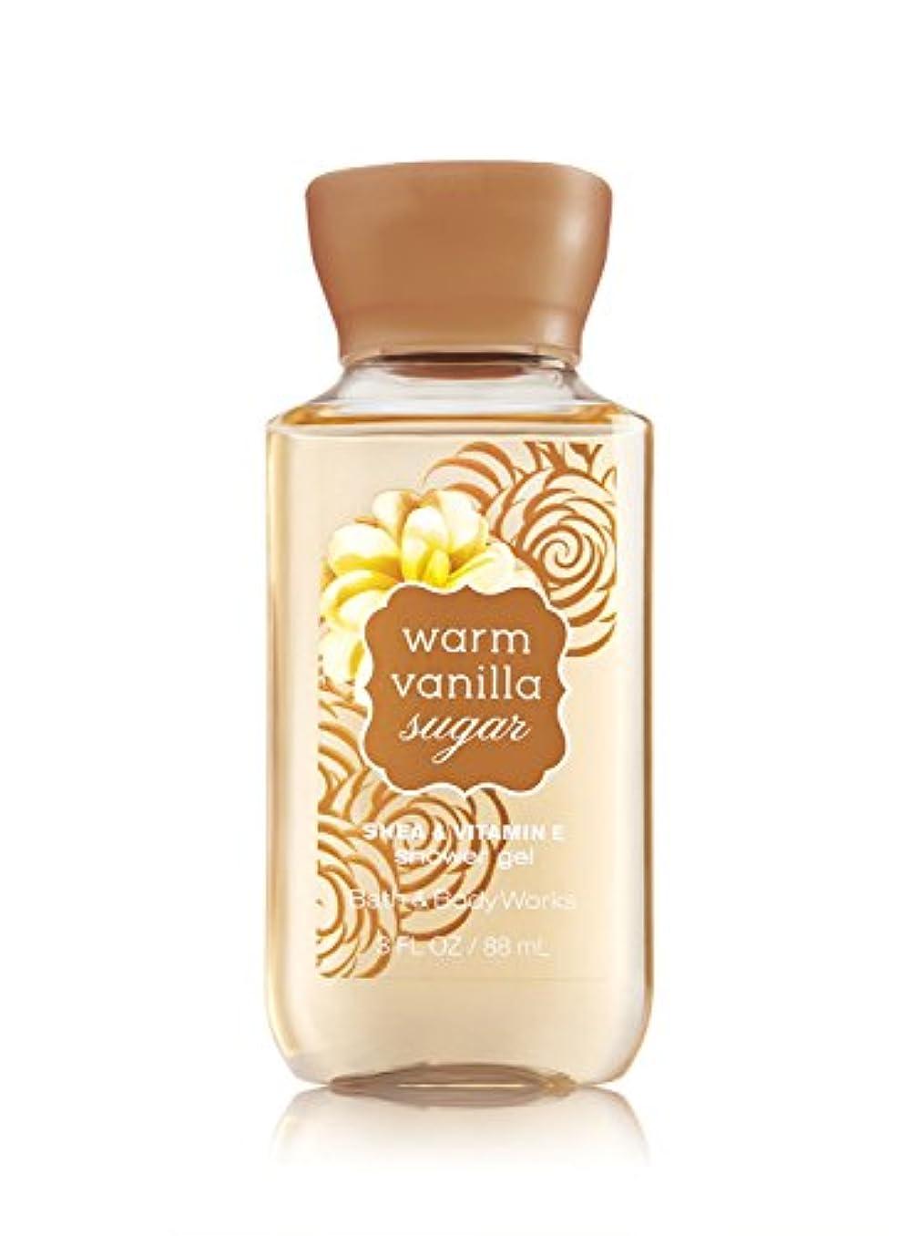 今晩パンフレットブッシュバス&ボディワークス ウォームバニラシュガーシャワージェル トラベルサイズ Warm Vanilla Sugar Shower Gel Travel-Size [並行輸入品]