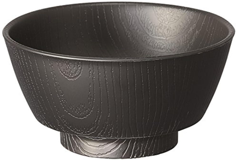 木目 持ちやすい 汁碗 330ml ブラック 日本製 NBLS2