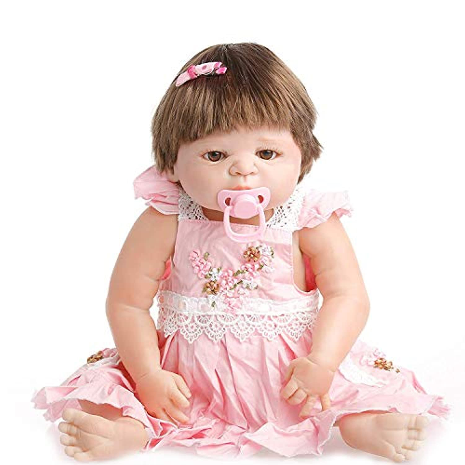 NPK collection Reborn Baby Doll, Vinyl Silicone 22 inch 55 cm Babies Doll, Lifelike express Toys Girl for Children Gift can take a shower all Vinyl Silicone Baby by NPK collection