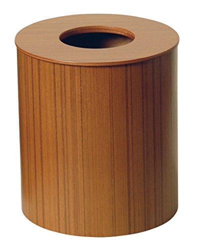 SAITO WOOD ごみ箱 ダストボックス ドーナツ蓋 M 951 5.5L チークグレイン
