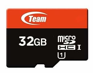 Team MicroSDHCカード 32GB Class10 UHS-I 対応 ECOパッケージ (収納ケース付き) 10年保証