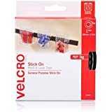 VELCRO Brand - Sticky Back Hook and Loop Fasteners | General Purpose Peel & Stick | Perfect for Home or Office | 25mm x 2.5m Tape | Black
