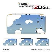 new Nintendo 2DS LLシリーズ 専用 カバー ケース ( ハード ) ニンテンドー デザイナーズ : オワリ / 「ネコ風船 ブルー」