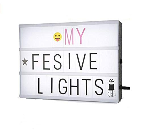 RoomClip商品情報 - Lucktao LEDライトボックス 照明 LED LIGHT BOX コンビネーションボックス テーブルランプ led DIY アルファベット252個 ルミナスボックス 店舗の看板 A4サイズ(30*20*6cm)