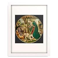 サンドロ・ボッティチェッリ Sandro Botticelli 「Adoration of the Christ Child」 額装アート作品