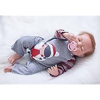Lifelike Sleeping人形CurvedモヘアRebornベビー人形22インチ55 cm新生児シリコン赤ちゃんおもちゃキッズ誕生日クリスマスギフト