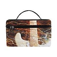 GGSXD メイクボックス カッコイイ楽器 ギター コスメ収納 化粧品収納ケース 大容量 収納ボックス 化粧品入れ 化粧バッグ 旅行用 メイクブラシバッグ 化粧箱 持ち運び便利 プロ用