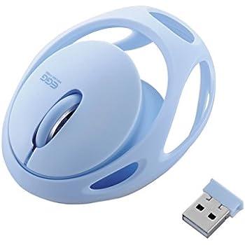 エレコム ワイヤレスマウス [EGG MOUSE FREE] 3ボタン ブルー M-EG30DRBU