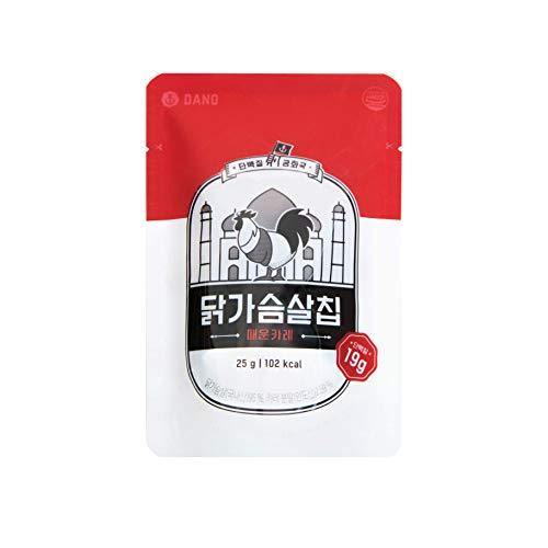 DANO(ダノ) 鶏むね肉チップス スパイシーカレー味 250g(25g×10袋) ジャーキー スライスチップス ダイエットおやつ ヘルシースナック 高たんぱく 無塩 スパイシーカレー味
