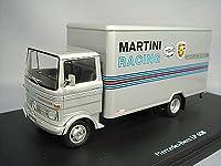シュコー 1/43 メルセデスベンツ LP608 マルティニ レーシングトラック シルバー