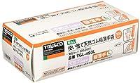 TRUSCO(トラスコ) 使い捨て極薄手袋(天然ゴムパウダーフリー)100枚入 L 白