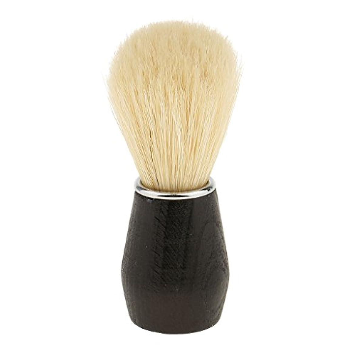 練習した学習ノーブルひげ剃りブラシ シェービングブラシ 毛髭ブラシ フェイシャルクリーニングブラシ プラスチックハンドル