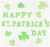 Beistle 33133 Happy St. Patrick's Day Gel Clings Sheet, 7-1/2 by 7-1/2-Inch [並行輸入品]