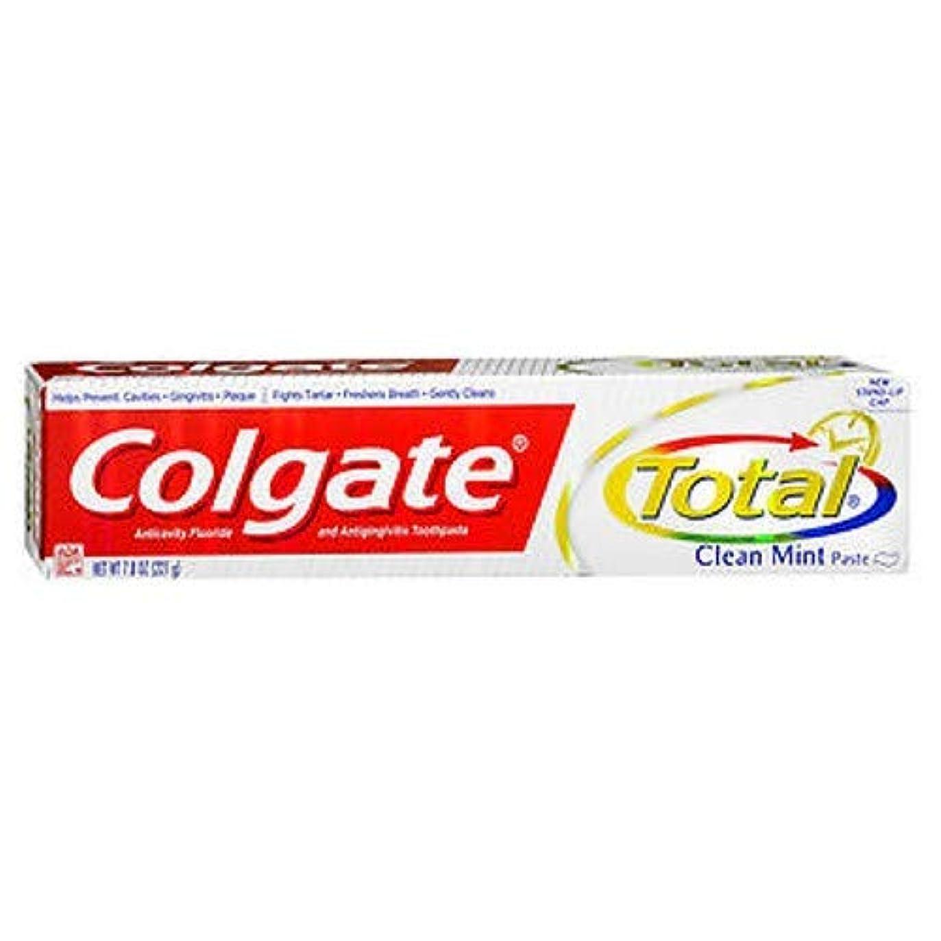 顧問悪性の取り壊すColgate 総フッ化物の歯磨き粉クリーンミント、7.80オンス(4パック)