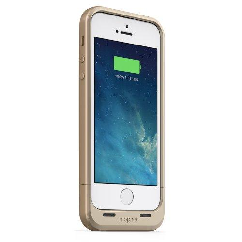 日本正規代理店品 保証付mophie juice pack air for iPhone SE/5s/5 (1,700mAh バッテリー内蔵ケース) ゴールド MOP-PH-000059