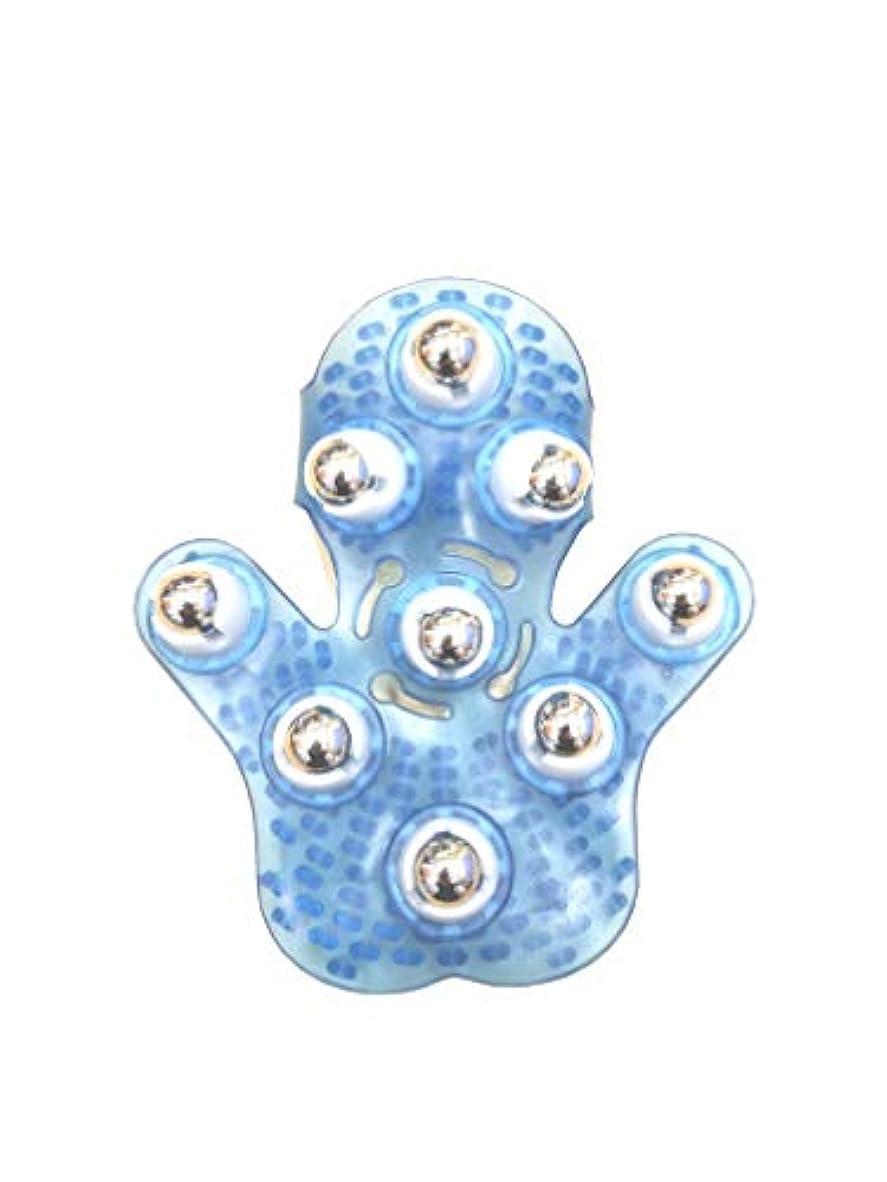 不利首東コロコロすっきりハンド マッサージ 17×15cm (ブルー)