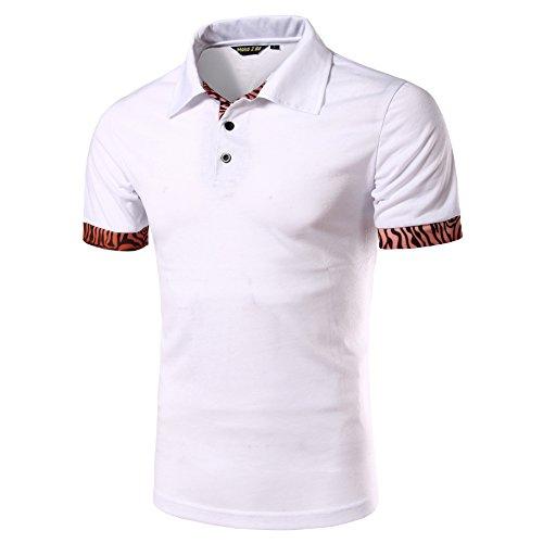 (メイク トゥ ビー) Make 2 Be メンズ カジュアル ポロシャツ ゴルフ MF27 (72.Zebra2_White_M)