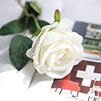 人工花、造花ブーケシルクのバラのホームガーデンパーティーの花の装飾10個の実質タッチブライダルウェディングブーケ(ピンク) 人工結婚式の花 (Color : 7)