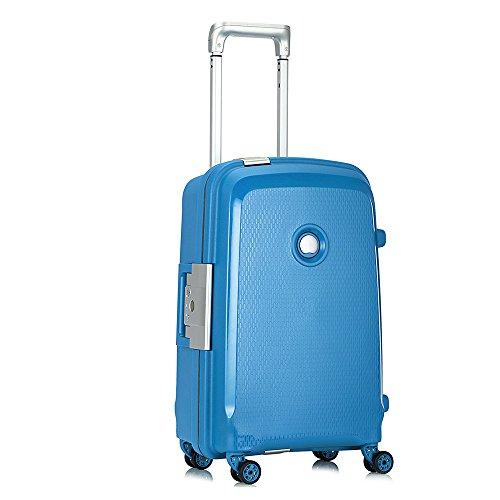 [デルセー]Delsey スーツケース BELFORT PLUS 機内持ち込み 1-3泊 45L 軽量 大容量 一押し開閉式 TSAロック搭載 耐水 設計 キャリーバッグ キャリーケース 旅行用品 シアンブルー 5年国際保証