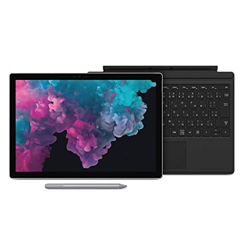 暗黙伴うブリーフケース【Microsoft ストア限定】3点セット:Surface Pro 6 (プラチナ) + 専用 タイプ カバー (ブラック) + 専用 ペン (プラチナ) - M4R-00004 (i5 / 128GB / 8GB)