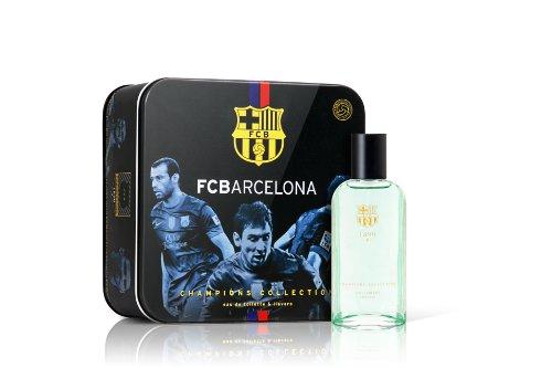 [해외]otomo (오오토모) FC 바르셀로나 공식 라이센스 향수 + 키 체인 (캔 BOX) 사인/otomo (otomo) FC Barcelona official license eau de toilet + key chain (can BOX) autographed