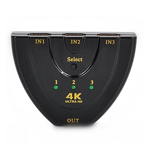HOMELED HDMI切替器を自動で切り替え フルHD対応 HDMI切り替え セレクター分配器3入力1出力HDDレコーダー パソコン PS3 Xbox 3D1080Pなどの対応 簡単切り替え スプリッター 切り替え器 ディスプレイ 3ポート 4k