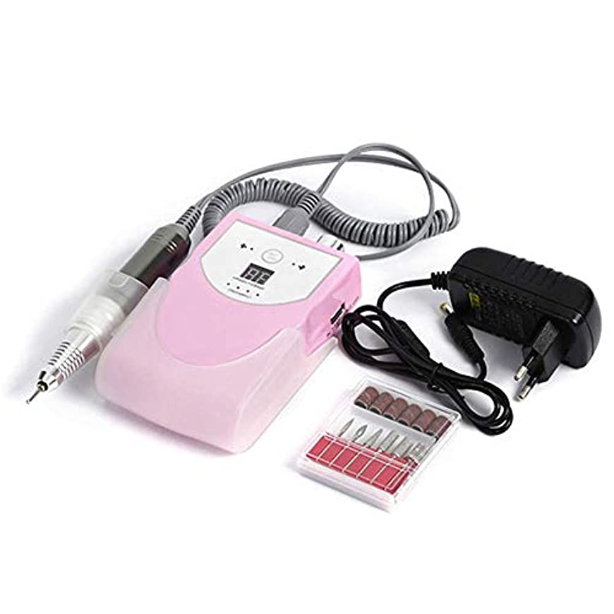 メンバー光沢のあるグリーンランド30000 rpmポータブル電気ネイルドリルマシンマニキュア充電式コードレスマニキュアペディキュアセット用ネイル機器、ピンク