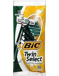 BIC 男性の敏感肌用ツインセレクトシェーバー10の各(10パック) 10のパック