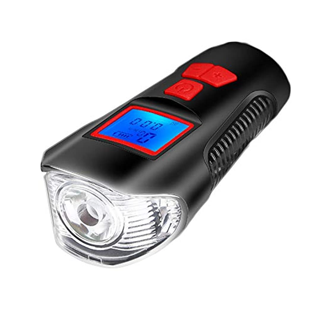 書誌湾パークDOMO 自転車ライト マウンテンバイク ヘッドライト USB充電 防水 照明付き グレア スピーカー ナイトライディング用品 サイクリング用品 (ケーブルコード表に接続可能)