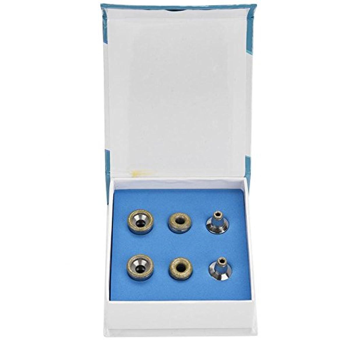 布感覚月曜日削皮フィルターセット、6個の交換用ダイヤモンドマイクロ削皮チップステンレス