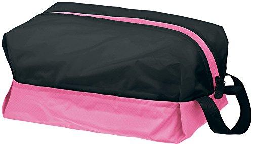 Speedo(スピード) 防水プールバッグ Lサイズ SD92B22 ブラック×ピンク