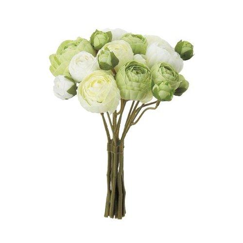 asca 造花 ラナンキュラスバンチ セロリ 全長約22cm