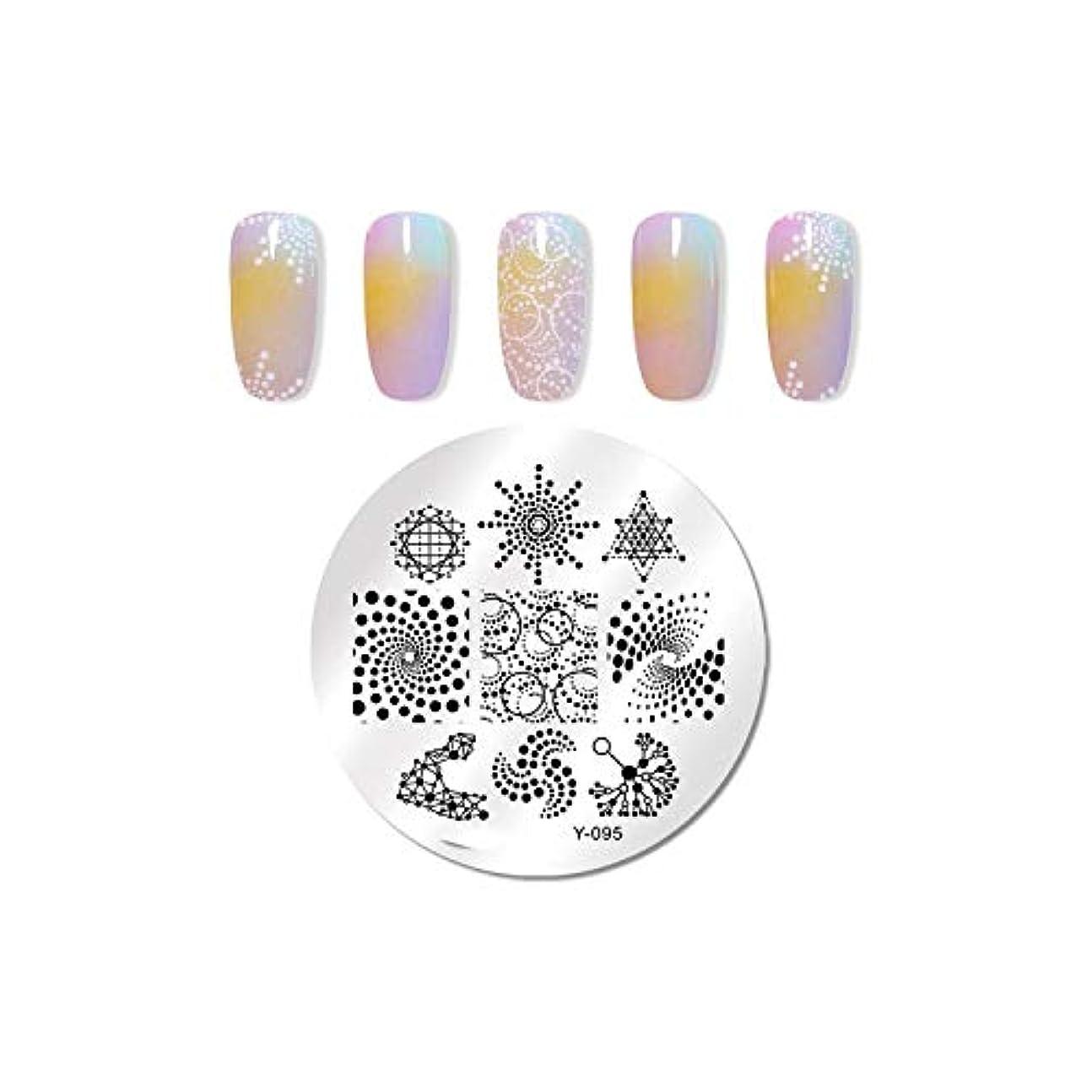 家具予測子印をつけるパイナップルココナッツネイル花の幾何学的デザインスタンピングテンプレート画像印刷ステンシル,95