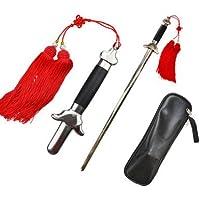 Enhong 伸縮式 太極剣 伸縮剣 演劇用 運動 剣舞 袋と剣穂付き