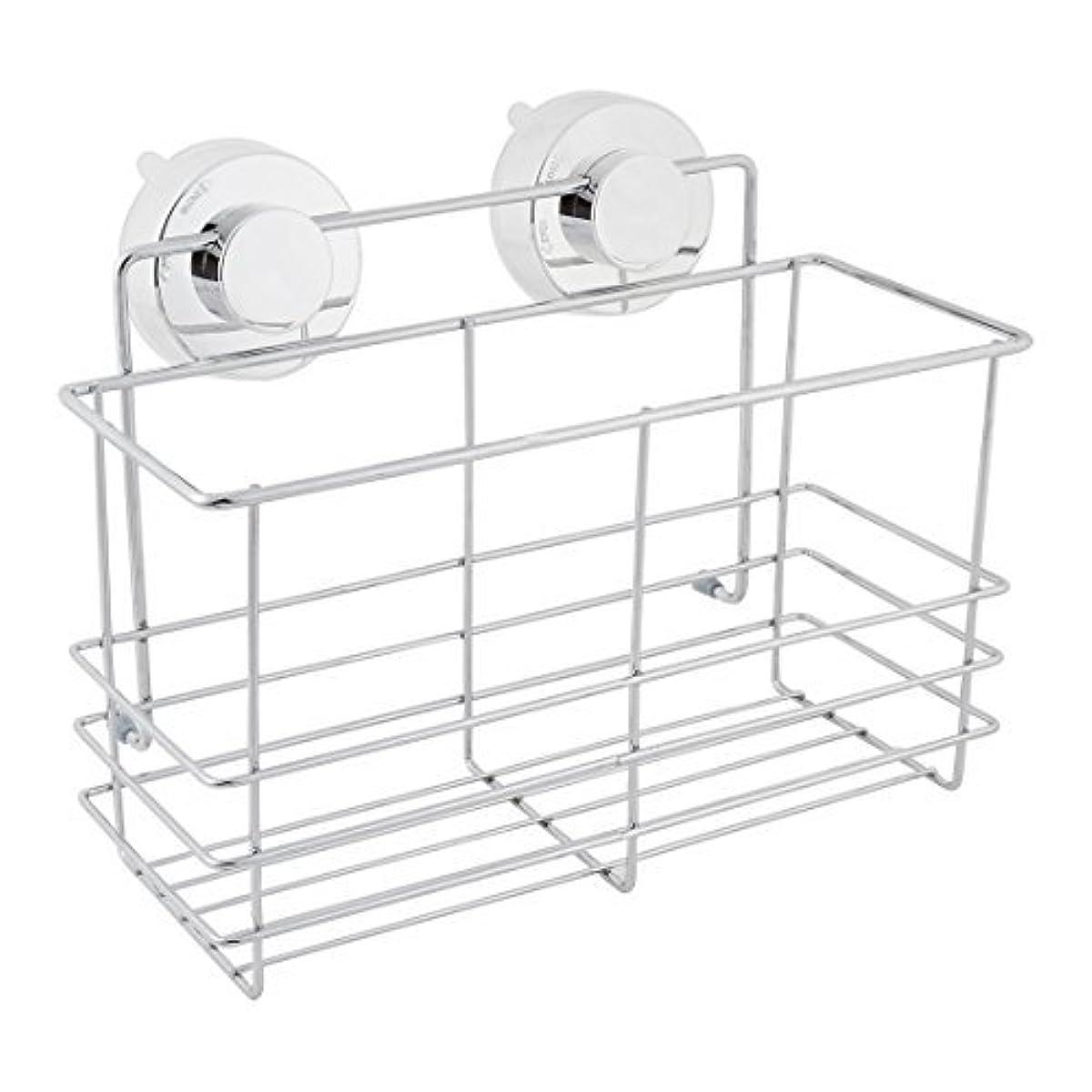 ウッズテザーアカデミーDealMux浴室スペースセーバーサクションカップのストレージシェルフホルダーラックオーガナイザー